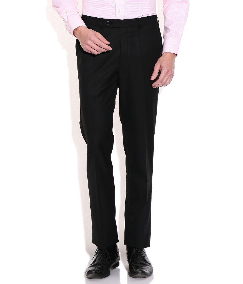Raymond Black Slim Fit Formal Trousers