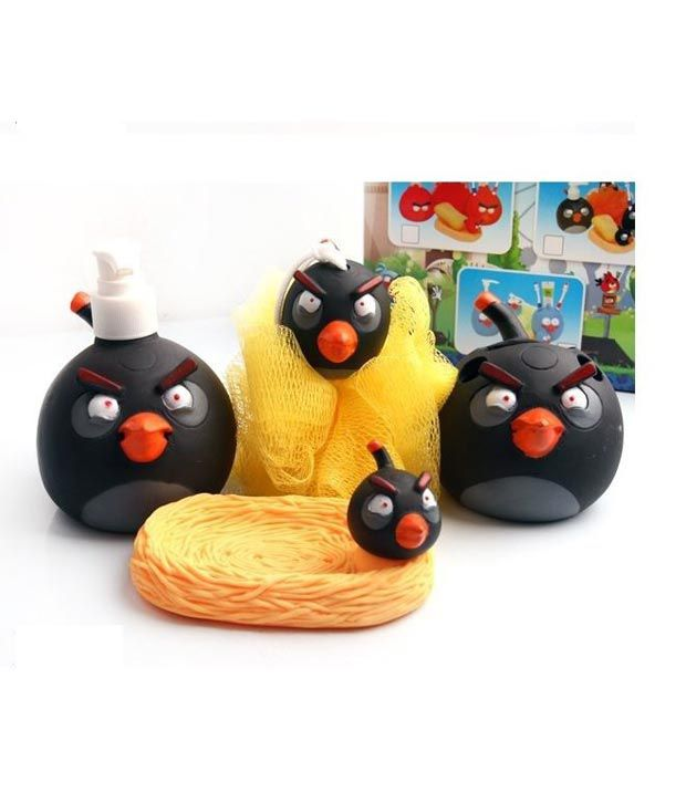 Arow Baby Bathroom Set Angry Bird Black