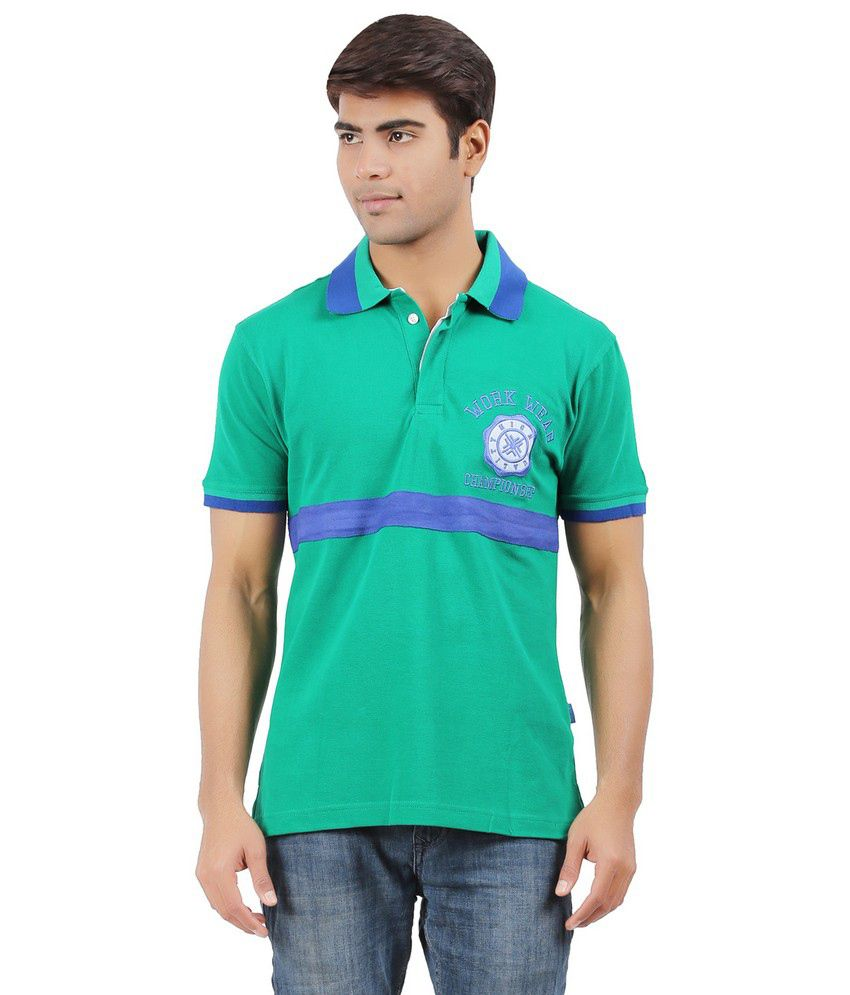 green cotton polo t shirts buy green. Black Bedroom Furniture Sets. Home Design Ideas