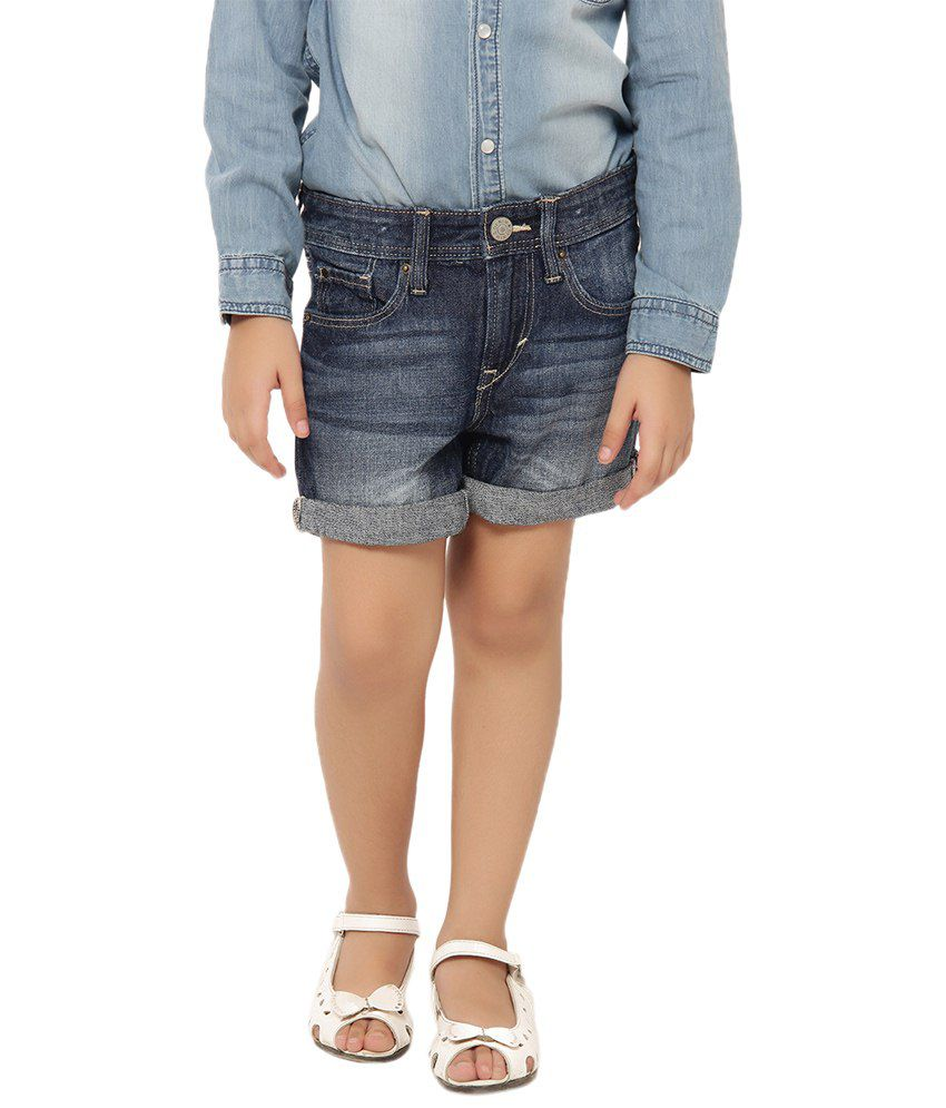 Oxolloxo Blue Solids Shorts