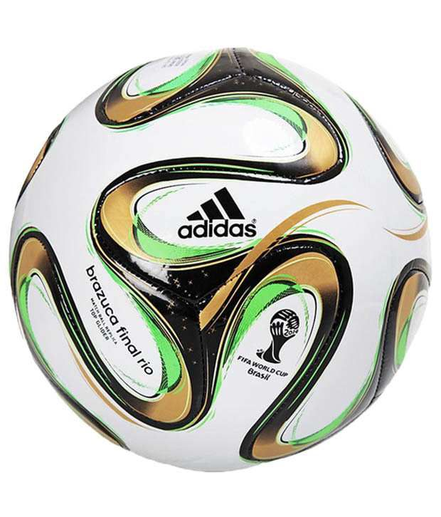 buy popular 3f6d7 a3469 Adidas Brazuca Wc Finals Top Glide Replica White   Green Football   Ball   Buy Online at Best Price on Snapdeal