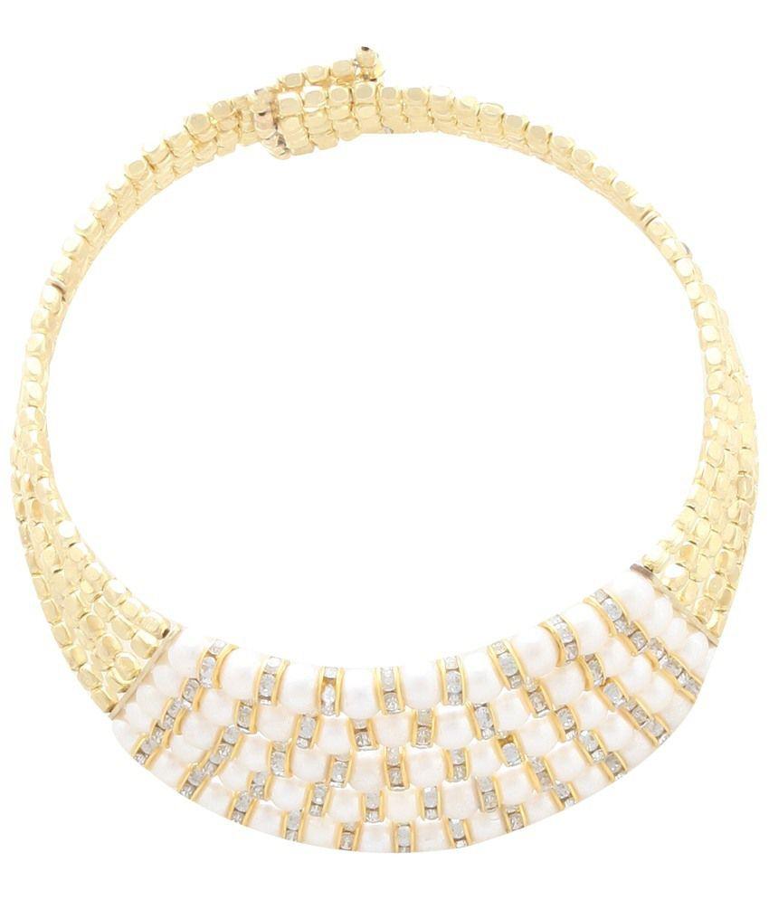 Shilpi Handicrafts White Choker Necklace