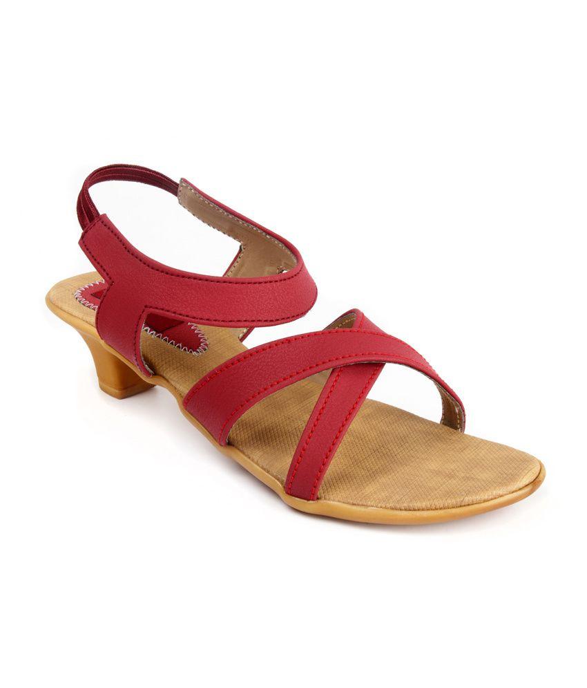 Artist Maroon Open Toe Faux Leather Sandal