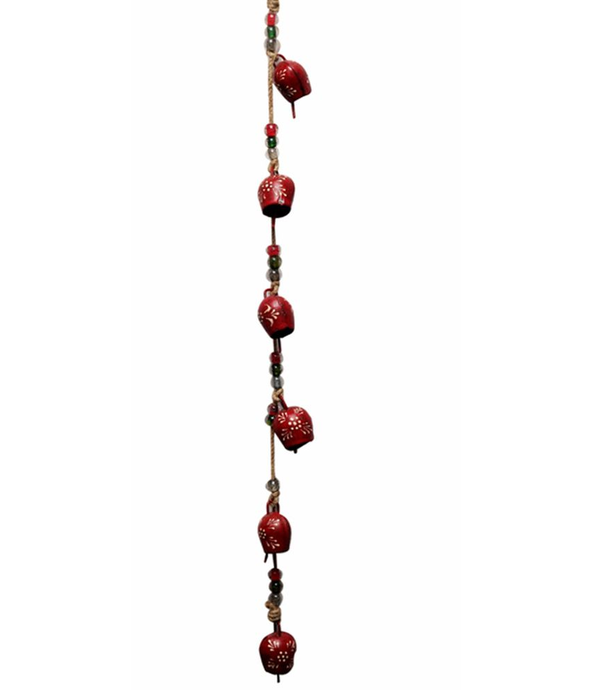 Indian Handicrafts Company 6 Bells Red String Buy Indian