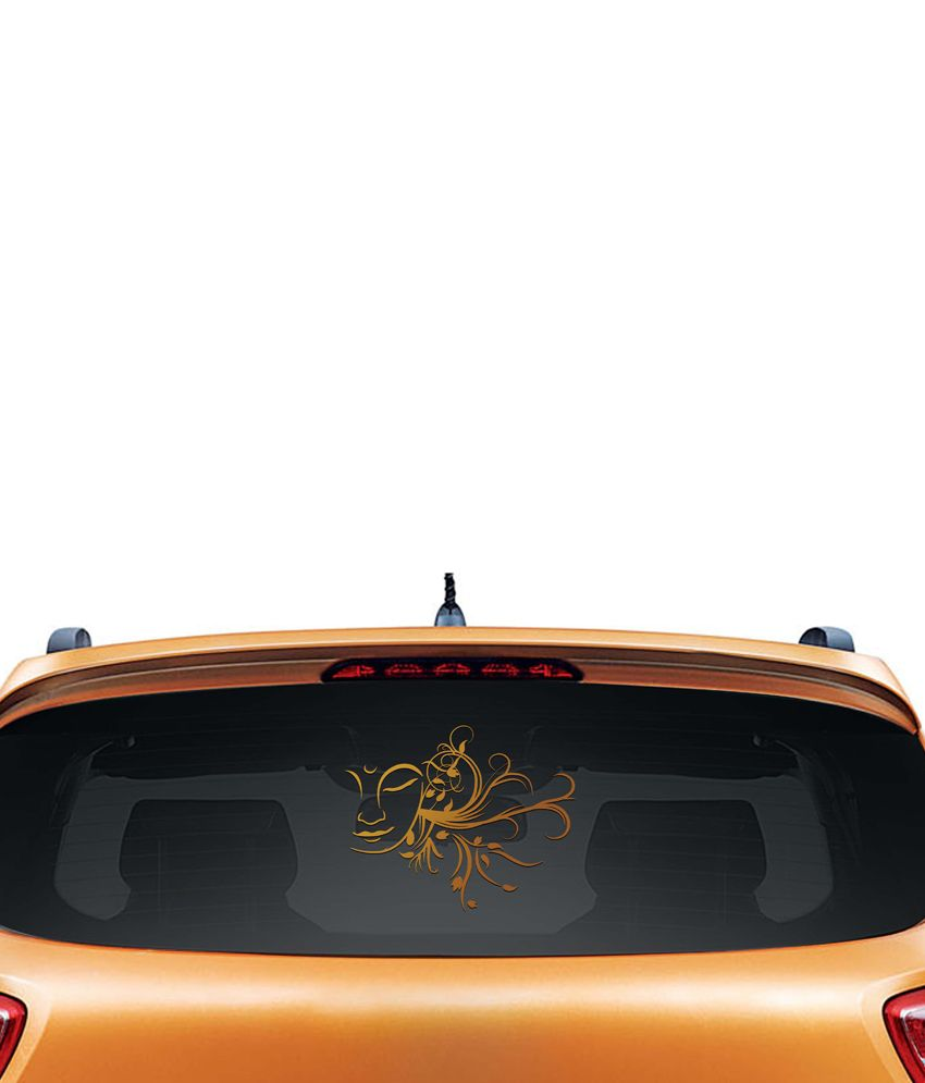 Walldesign Plant Of Buddha Car Sticker - Copper