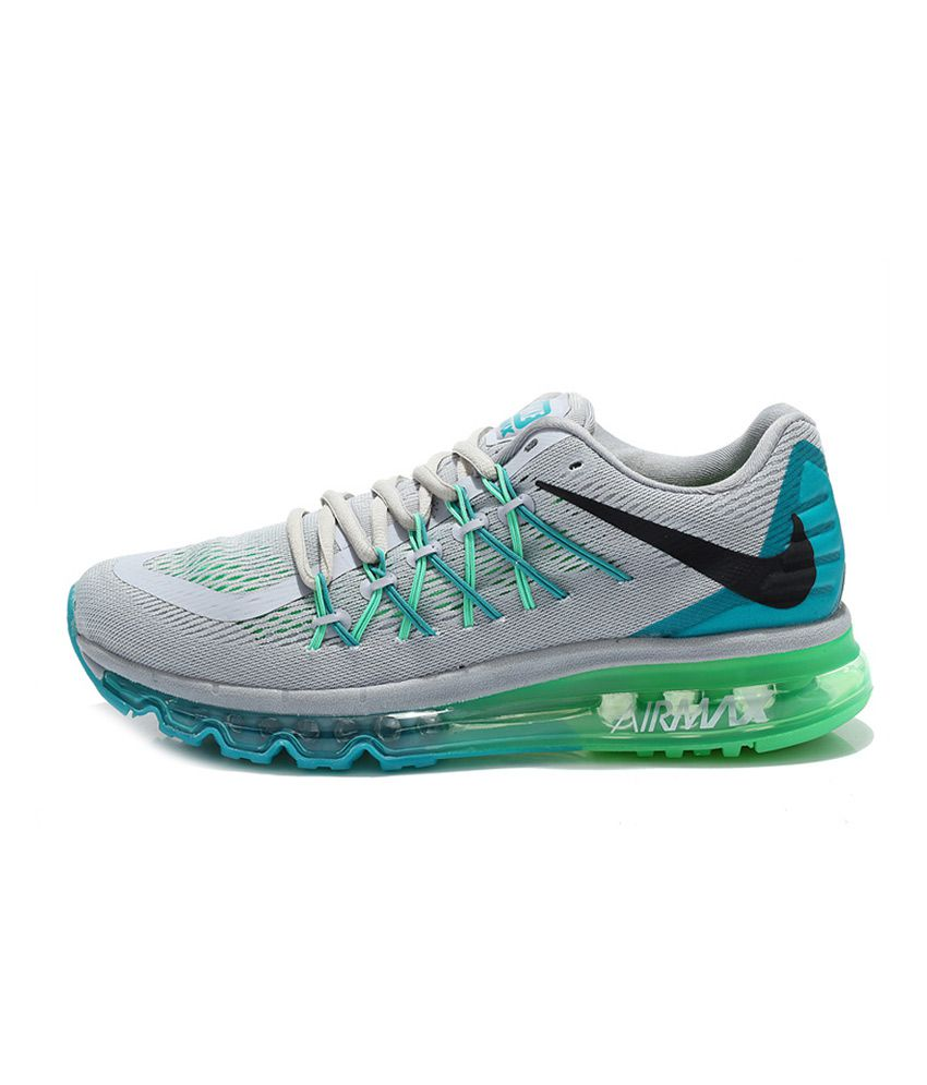 new concept 1af41 88662 ... Nike Air Max 2015 Gray Mesh textile Running Sport Shoes ...