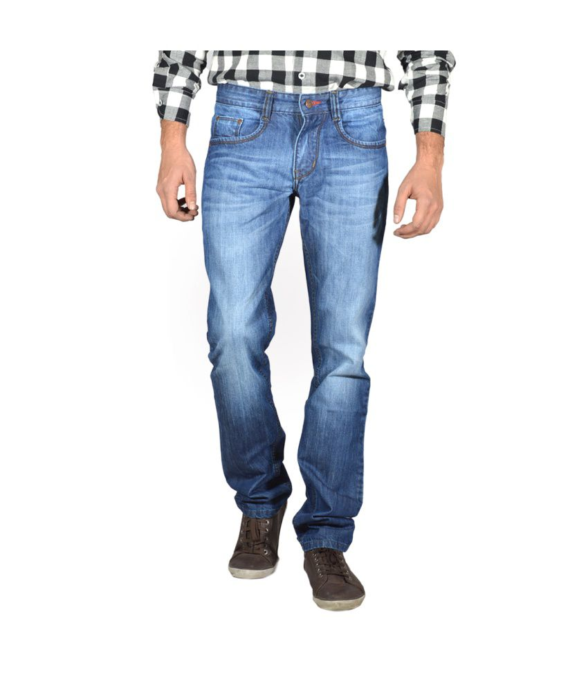 Focker Blue Slim Fit Cotton Jeans