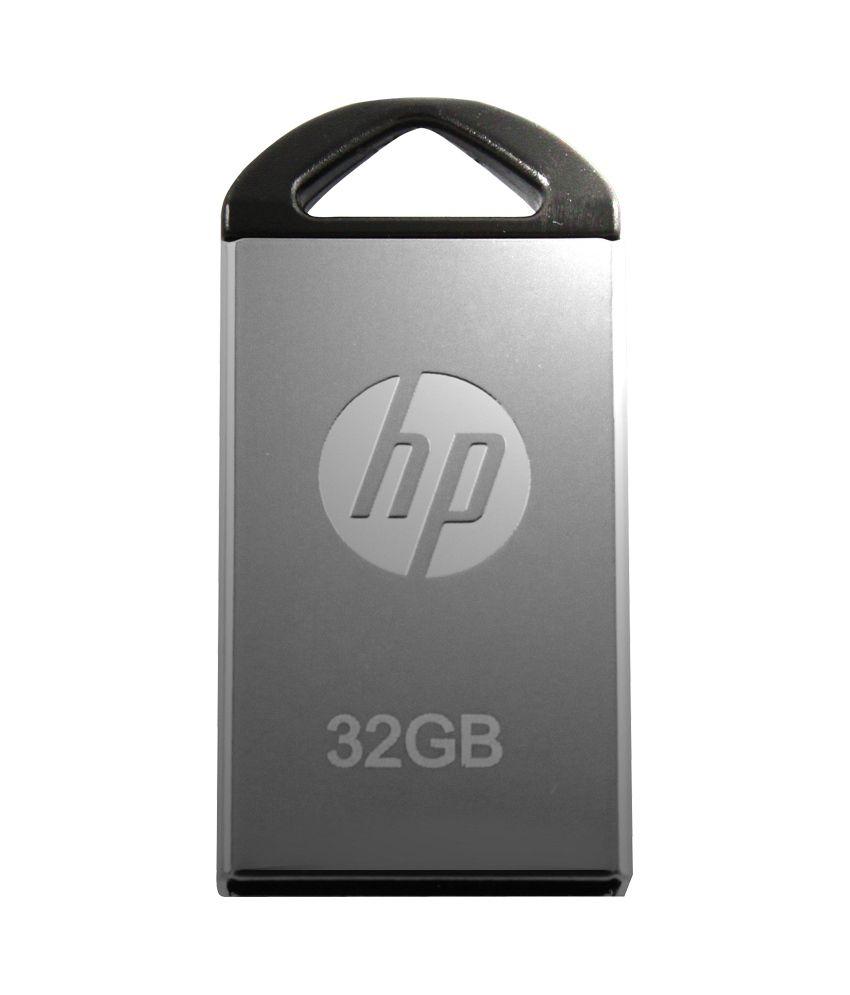 HP V 221 W 32 GB Pen drive (Metallic Silver)