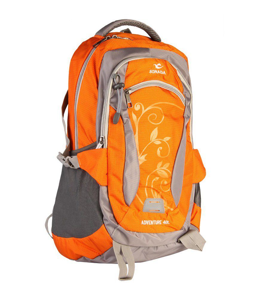 Sonada Orange Laptop  Backpack