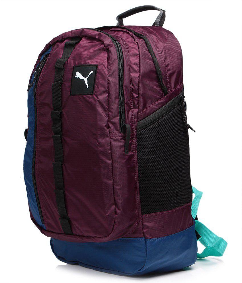 Puma Purple Backpack - Buy Puma Purple Backpack Online at Best ... 212abaa07409c