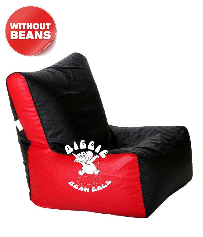 comfy bean bag biggie bags bean chair cover xl size black