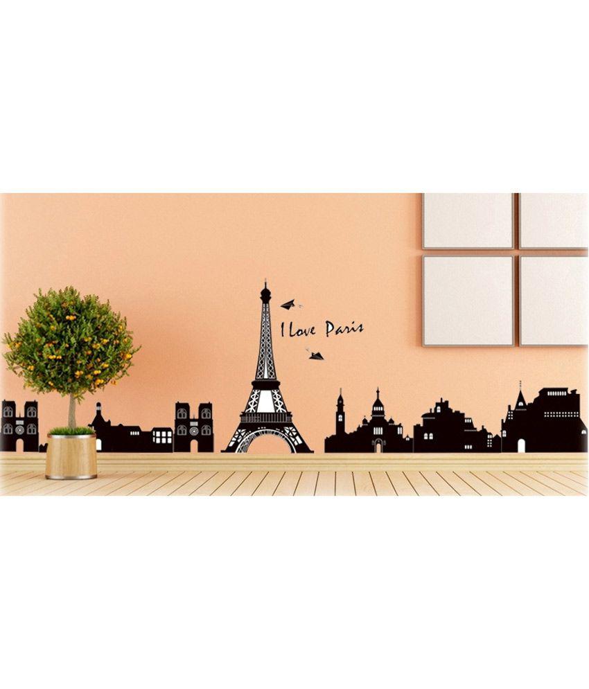 Generic Diy I Love Paris Eiffel Tower Skyline Wall Stickers Vinyl ...