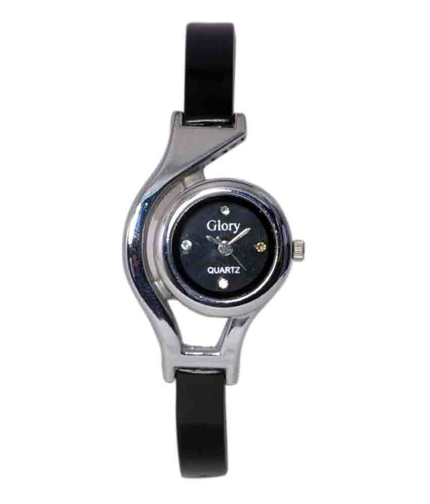 Wrist watch on discount - Glory Stylish Black Ladies Wrist Watch