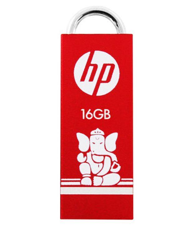 Hp V234 16 Gb Pen Drives Red & White