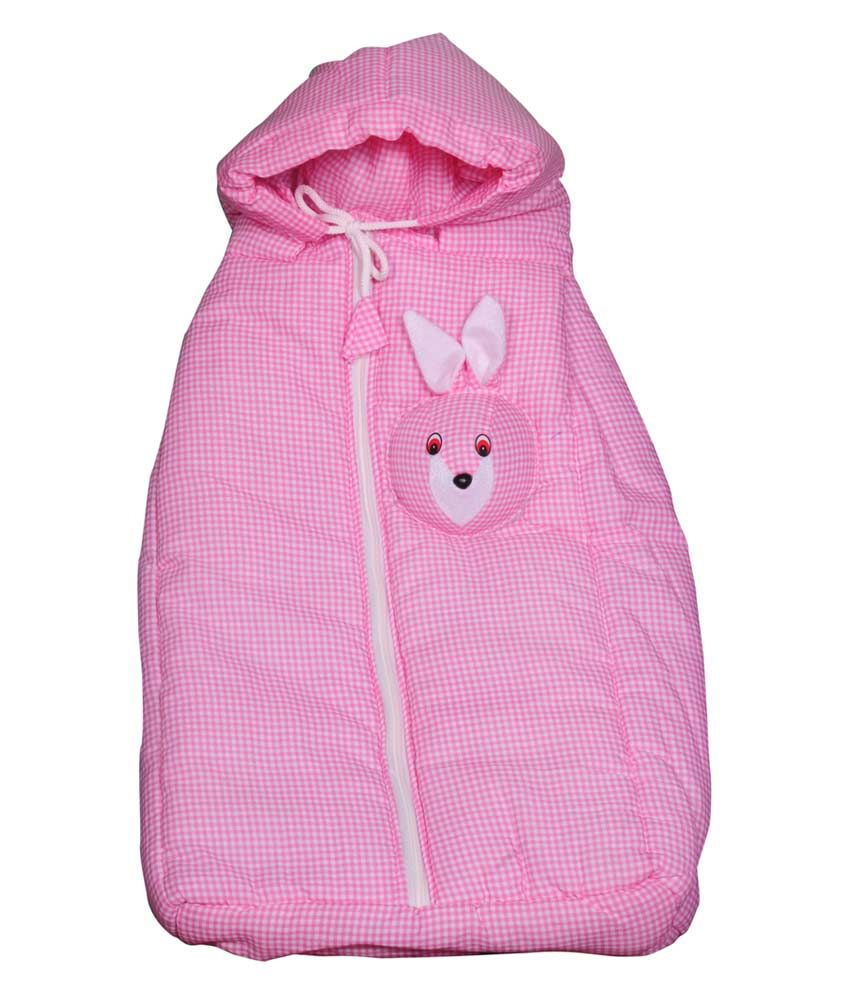 Little Prints Baby Bunny Pink Wrap Bag