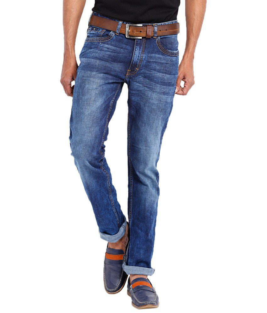Locomotive Blue Slim Fit Casual Jeans