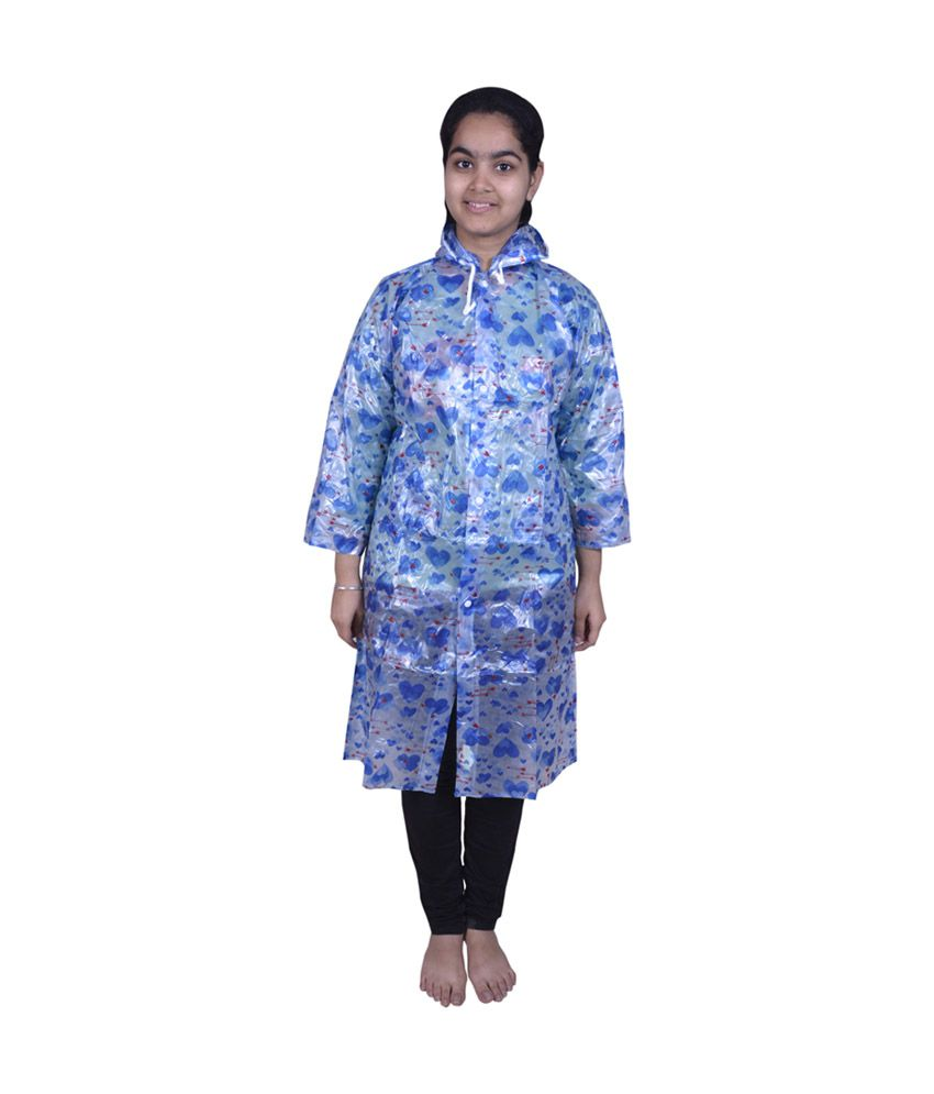 Rainfun Multicolour Blended Full Sleeve Jacket With Hooded