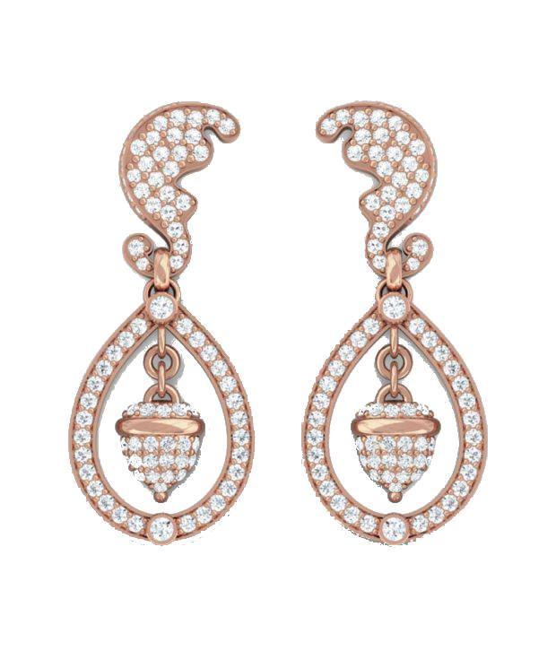 Kreeli 18k Rose Gold Kate Diamond Earrings With D-f Vvs2 Diamond Quality