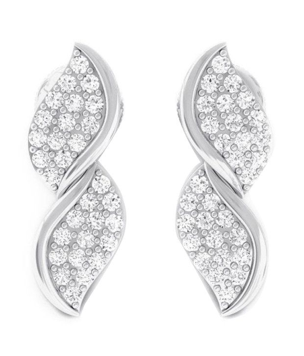 Kreeli 22k White Gold Ekani Diamond Earrings With D-f Vs1 Diamond Quality
