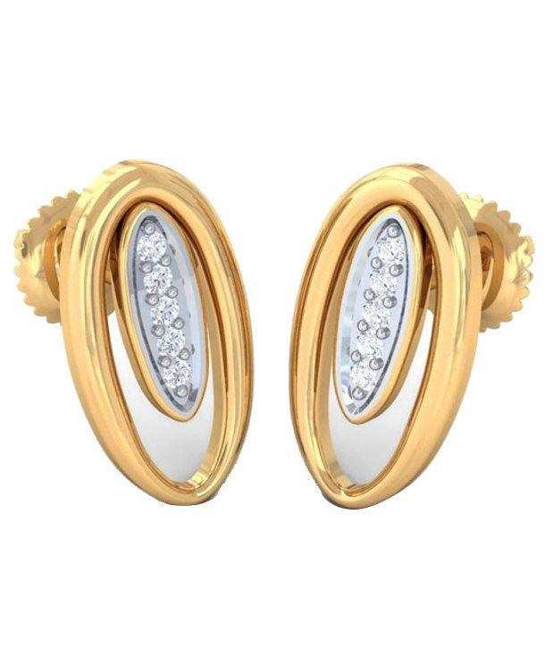 Kreeli 22k Yellow Gold Daisy Diamond Earrings With D-f Vvs1 Diamond Quality
