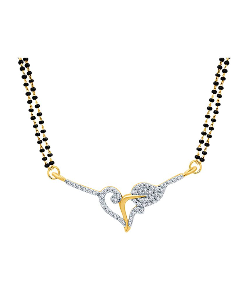 Eldora Fashionable Black & Silver Alloy Tanmaniya Mangalsutra