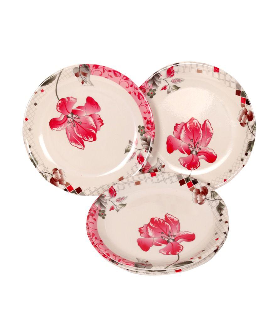 Tjaggies beautiful design melamine dinner plates set of 6 Beautiful plates