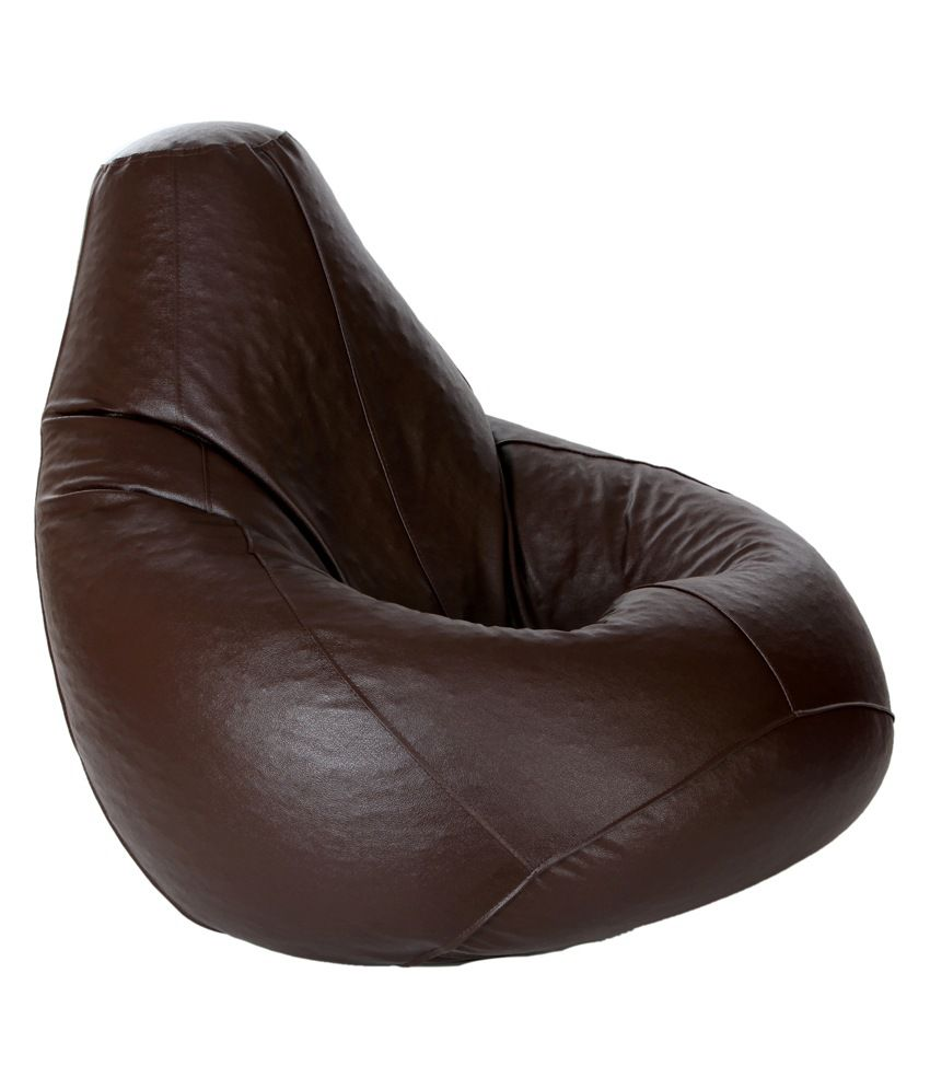 bean bag with beans in brown xl buy bean bag with beans. Black Bedroom Furniture Sets. Home Design Ideas