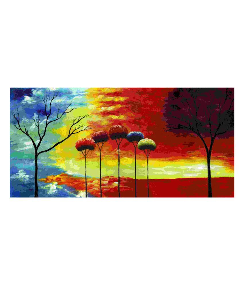 Elite Collection Digitally Printed Frameless Canvas Painting Abstract-0243
