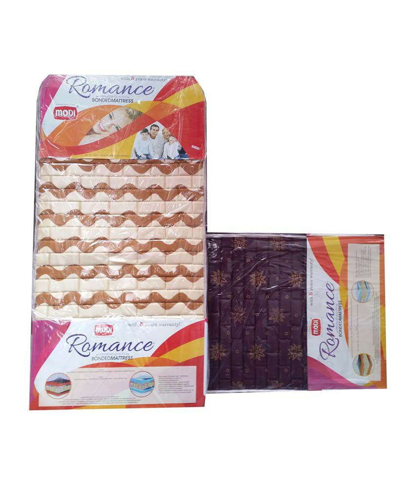 modi foam single size spinecare poly cotton mattress set of 2 pcs