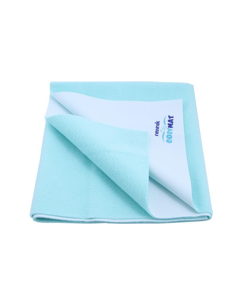 Newnik Cozymat-Reusable Waterproof Sheet Sea Green Single Bed