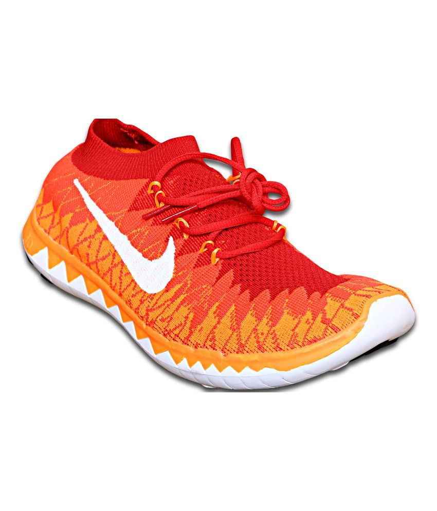 Nike Orange Running Sport Shoes For Men's