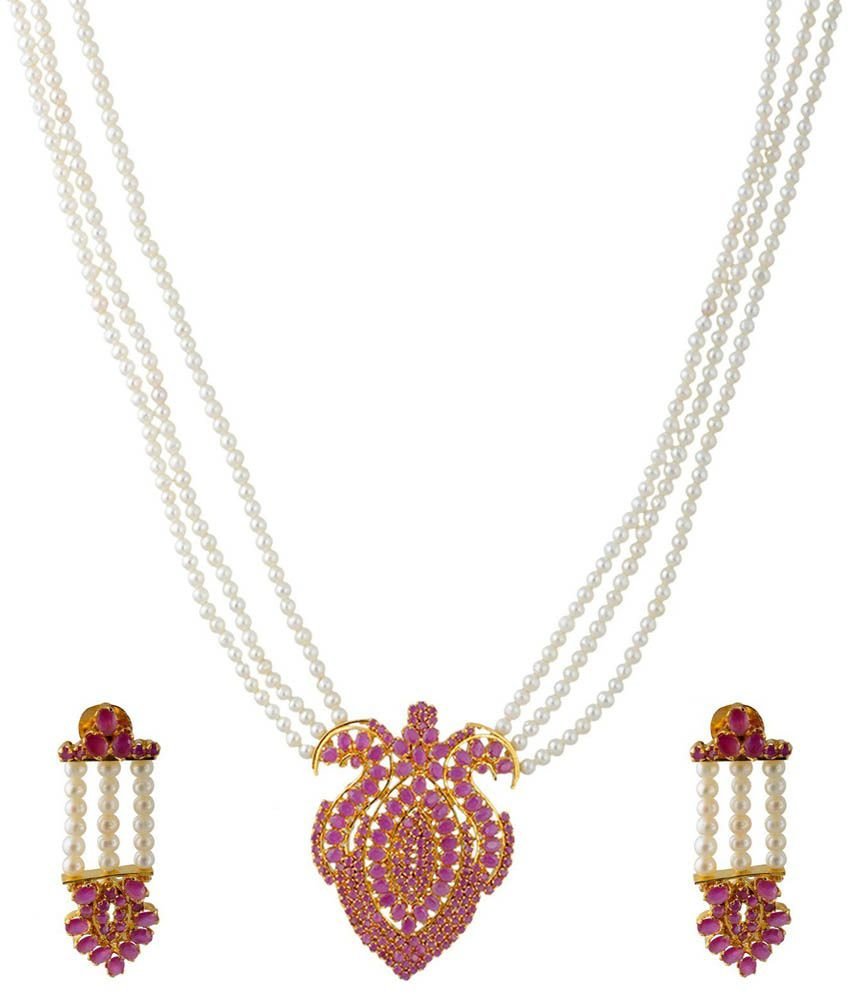 Pearl Paradise Beautiful Alloy Necklace Set