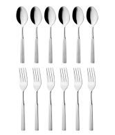 Mosaic Prince Silver Dessert Spoon & Dessert Fork Set Of 24