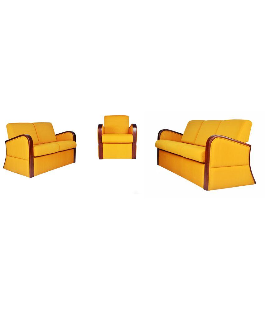 Harmann Furniture Compressed Wood Natural Finish Sofa Sets