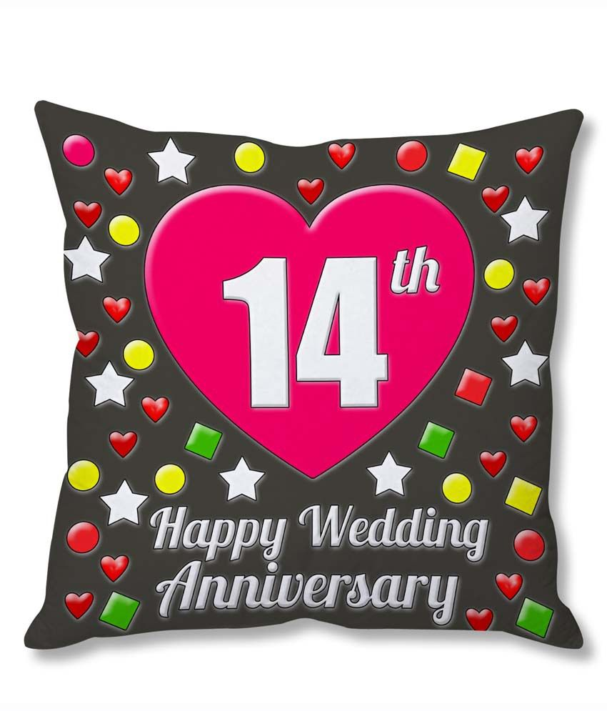 What Is The Gift For 14th Wedding Anniversary: Photogiftsindia 14th Wedding Anniversary Cushion Cover