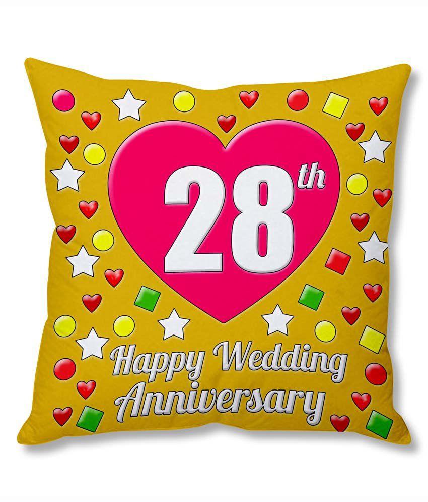 28th Wedding Anniversary Gift: Photogiftsindia 28th Wedding Anniversary Cushion Cover