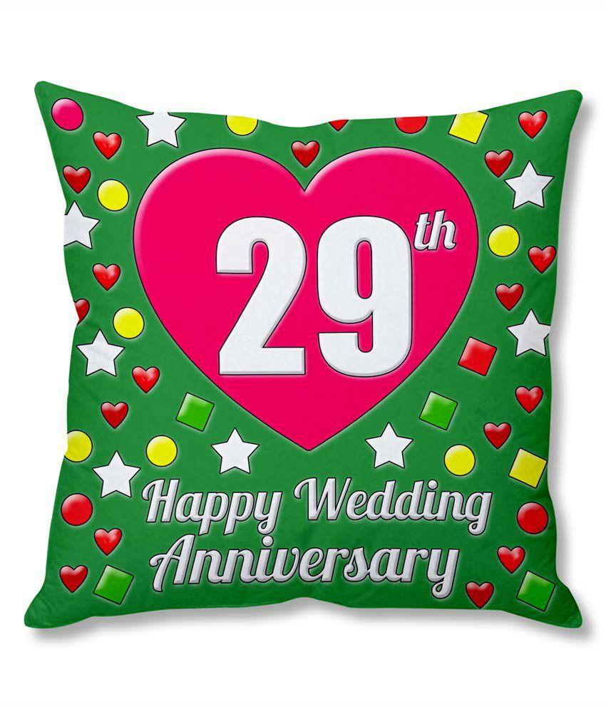 29 Year Wedding Anniversary Gift: Photogiftsindia 29th Wedding Anniversary Cushion Cover
