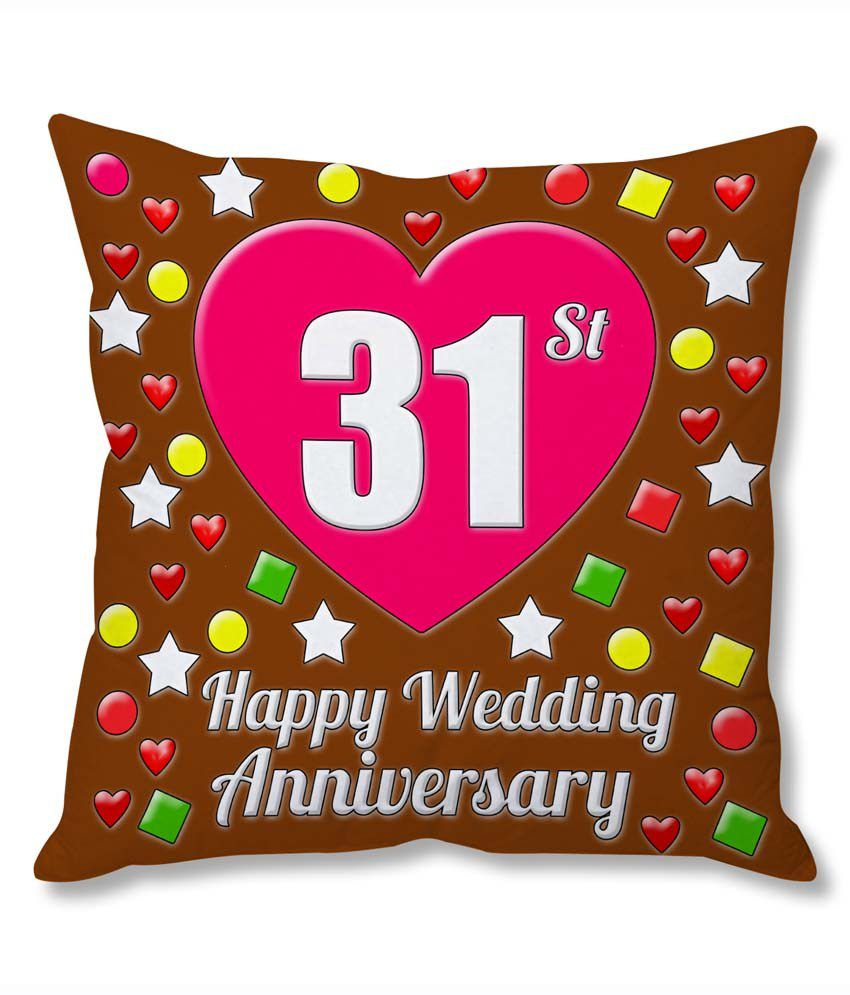 Photogiftsindia 31st Wedding Anniversary Cushion Cover Buy Online