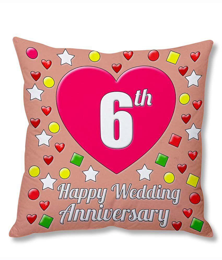 Photogiftsindia 6th Wedding Anniversary Cushion Cover: Buy Online at ...