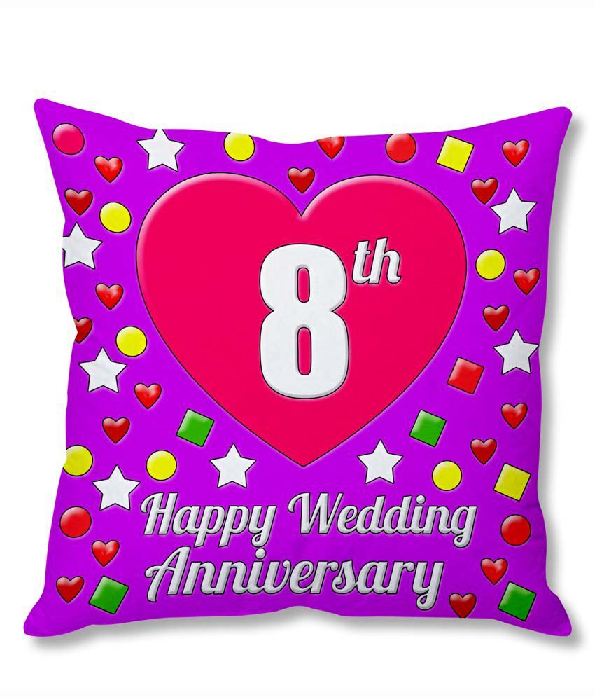 8th Wedding Anniversary.Photogiftsindia 8th Wedding Anniversary Cushion Cover Buy