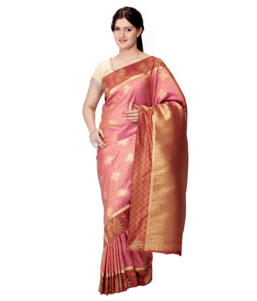 Fashiontra Silk Saree With Blouse Piece