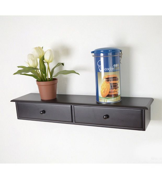 lifeestyle two drawer wall mount cabinet floating shelf wall shelf rh snapdeal com