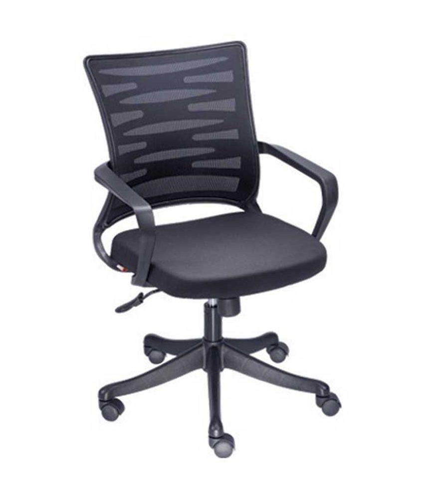 Mavi natural finish office chairs in black buy