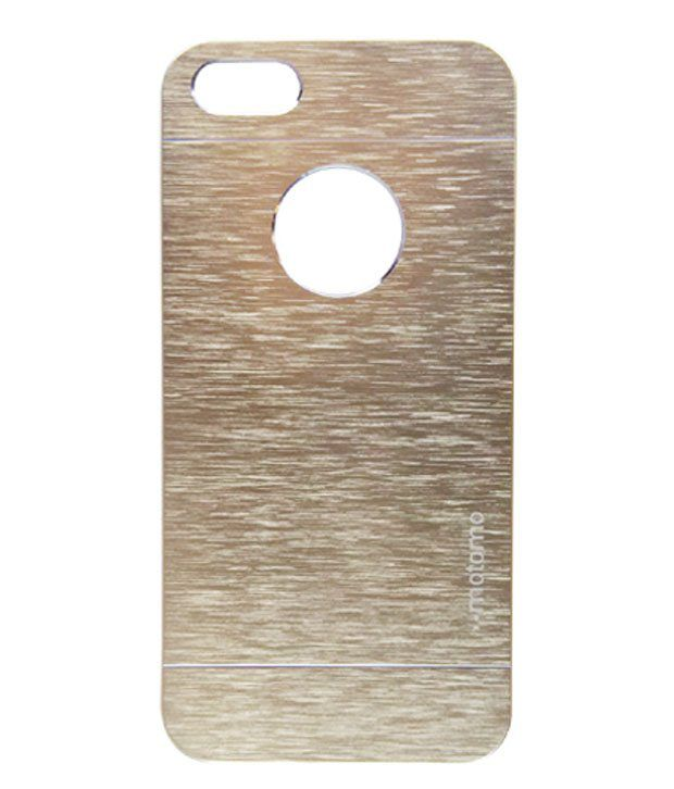 195e49bee2 Motomo Metal Back Cover Case With Logo Cut For Apple Iphone 5/5s- Gold -  Mobile Cover Combos Online at Low Prices | Snapdeal India