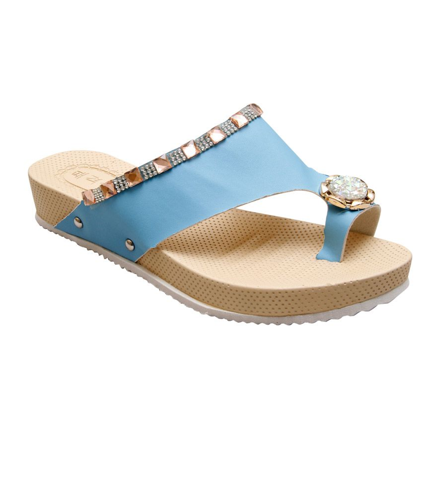 GADGET Blue Heeled Slip On