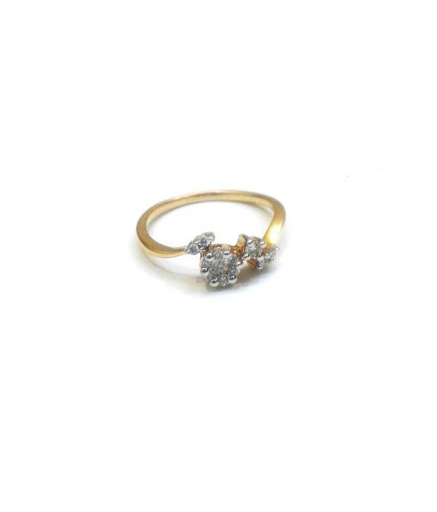 Gitanjali Jewels South Ex 18kt Gold Wedding And Engagement Round Diamond Ring