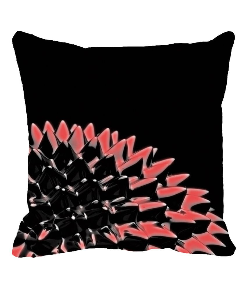 Leaf Designs Black Flora Cushion Cover