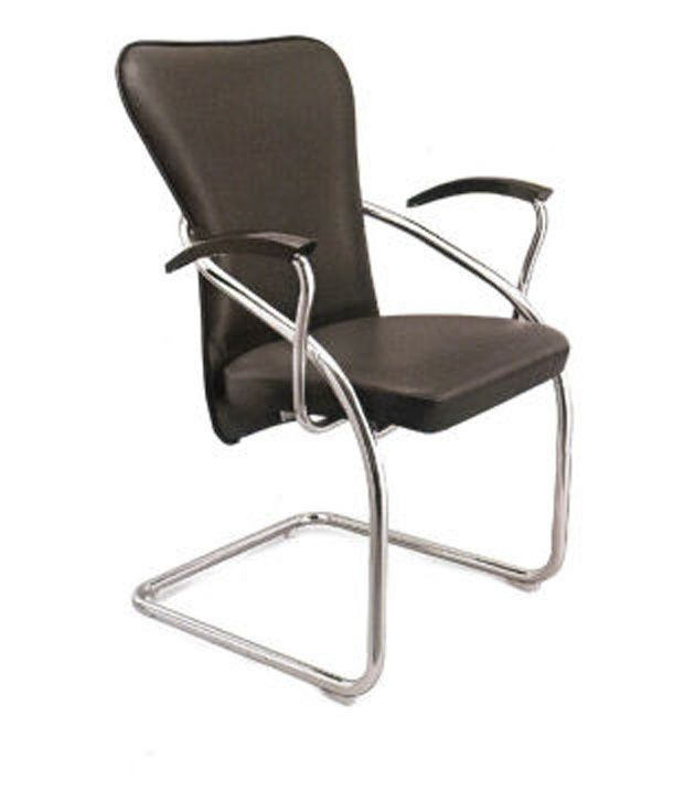 Tn Stark Industries Fabric And Steel Natural Finish Office Chairs In Black