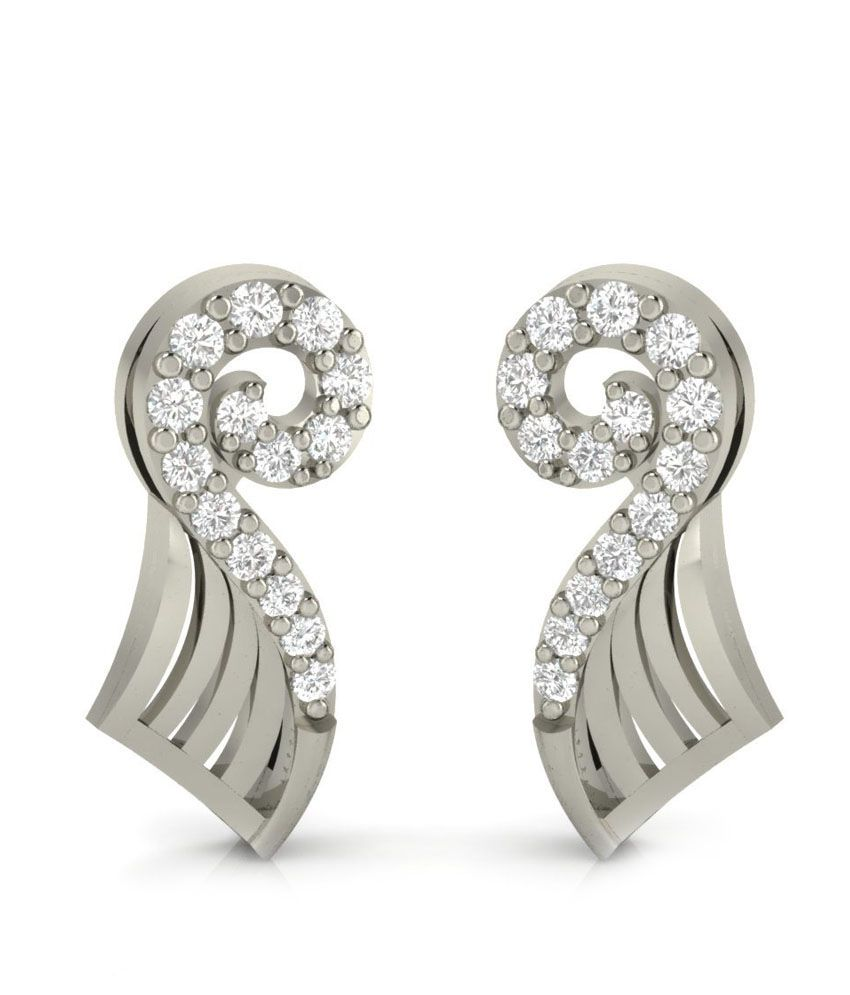 Demira Jewels Contemporary Silver Earrings 100%Certified