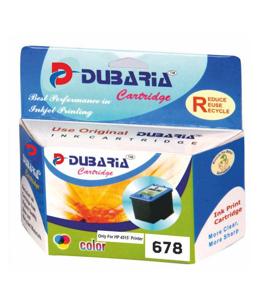 Dubaria 678 Tricolour Ink Cartridge For Hp 4515 Printer